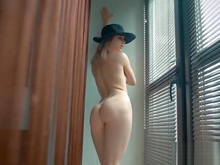 Classy ukranien beauty sensual stripping and posing