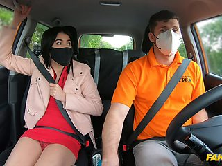 First driving lesson and all this Asian girl can think of is cock
