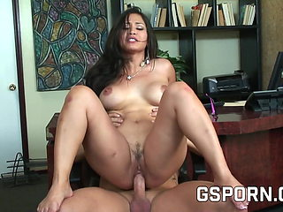 Asian secretary natural tits to for hot sen in the office
