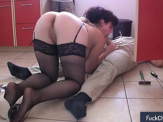 Bodacious milf in stockings is addicted to hardcore anal sex