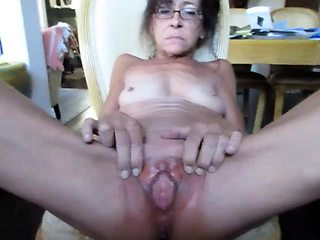 Horny amateur granny spreads her legs for a hard dick in POV