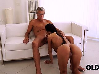 OLD4K. Finally she's got her boss dick