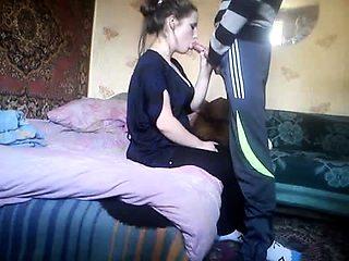 Horny Russian girlfriend reveals her cocksucking abilities