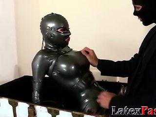 Fetish babe trapped in a box and fucked before facial
