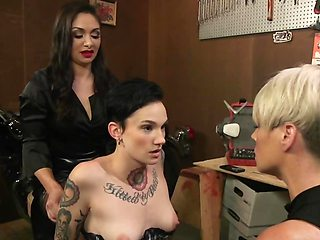 Chick with hot temper and assistant drive brunette into ecstasy