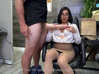Busty Pornstar Tugs Monstrous Fake Cock For Cum