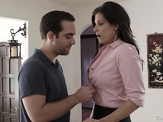 Smoking hot milf India Summer has an affair with handsome young dude
