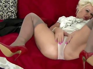 verbal slut Mommy masturbating tease in high heels