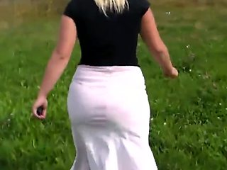 Real Czech Street Hooker - Number 176 - outdoor blonde slut