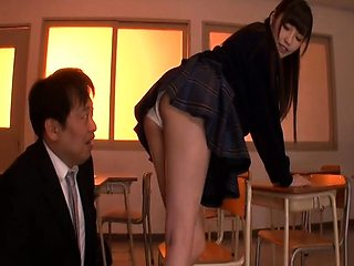 Young sweet Asian fingering hairy pussy visit her live