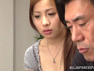 Ren Mukai sexual Asian housewife can't see for pussy stimulation