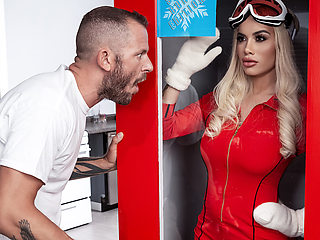 Victoria June & Scott Nails in All Dolled Up: The Birthday Present - BRAZZERS