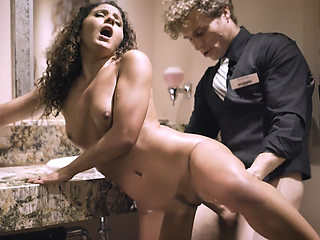 Cheating Liv Revamped fucked by waiter on the toilet!