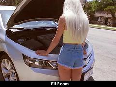 Elsa Jean - Petite Blonde Gets Picked Up