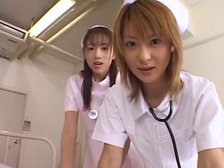 Asian nurses team up to have sex with a patient - Naho Ozawa