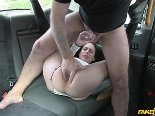 Amateur filmed when getting the dick on the back seat