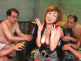 Amateur gangbang with natural tits Japanese slut Jun Kusanagi
