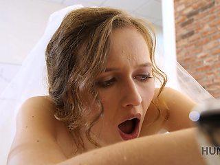 HUNT4K. After wedding poor groom sells partners pussy to rich stranger