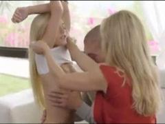 Bimbo Milf Training Her Petite Daughter