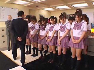 Crazy Japanese chick Satomi Suzuki, Michiru Hoshizora, Miyuki Yokoyama in Horny Cheerleaders, Close-up JAV scene