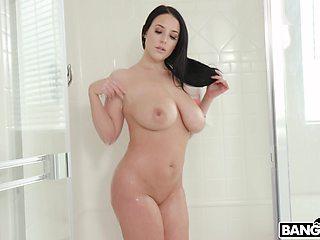 Cock hungry mature Angela White enjoys having sex with a neighbor