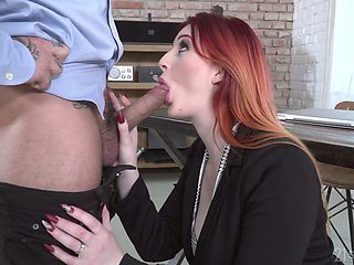 Kinky redhead Zara DuRose ends up BJ with a tremendous cock ride
