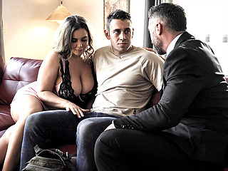 Husband shares his huge boobs wife Natasha Nice with student