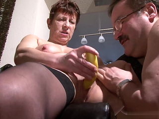 When an old husband, a banana will always help. Bertha
