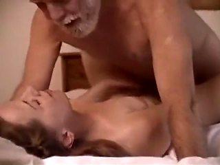 Old couple make love