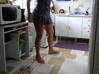 Brazilian sexy legs and flip flops