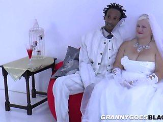 Grandma Bride Suck Black Male Stick - Interracial In
