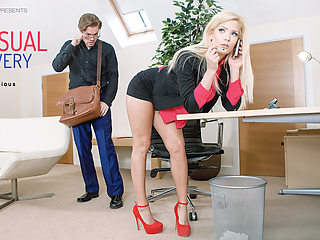 Candee Licious in Sensual Delivery - OfficeObsession