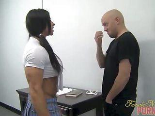 Muscular Schoolgirl Dominates Her Teacher 1 of 2