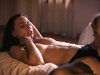 Two hot girls passionately make lesbian love late at night