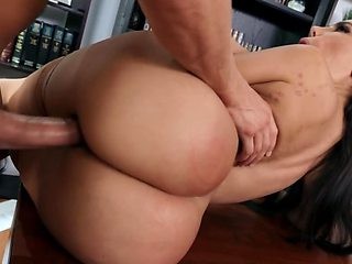 Big ass MILF is getting banged while wearing stockings