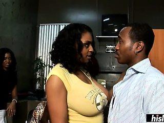Black wifey fully satisfies her hung man