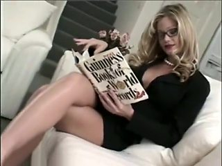 Sexy blonde cougar Fucked in every hole