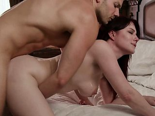 I almost cum out when stepmom blows me at the first time