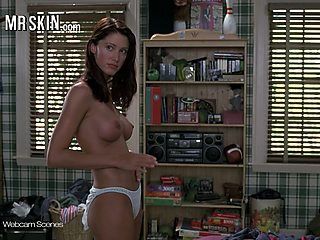 Shannon Elizabeth's nude topless American Pie scene and that babe got big tits